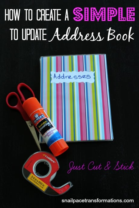creating a simple to update address book snail pace transformations