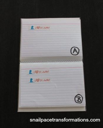 inside of address book