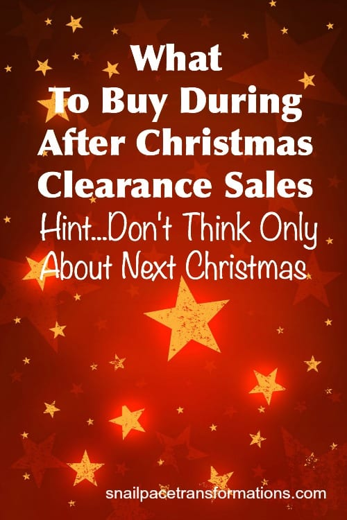 what to buy during after Christmas Clearance sales