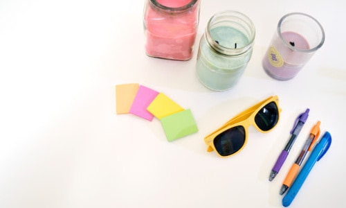 Create an entire outfit out of Post-It Notes for Valentine's Day.