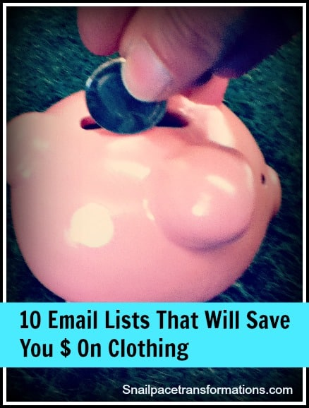 10 email lists that will save you money on clothing