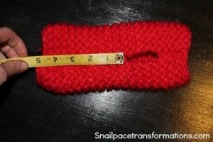 knitting up under thumb