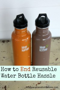 How to end reusable water bottle hassle