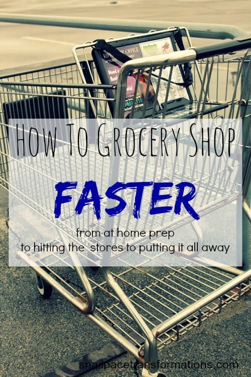 how to grocery shop in less time