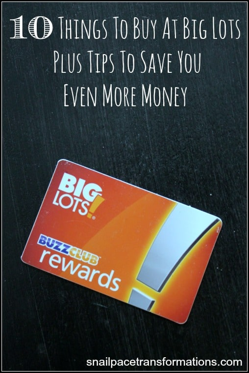 10 things to buy at Big Lots Plus tips to save you even more money