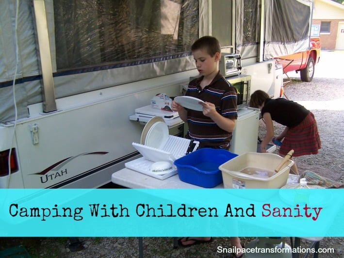 Camping With Children And Sanity