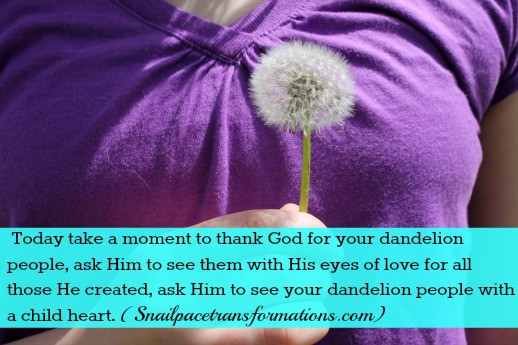thanking God for your dandlion people quote