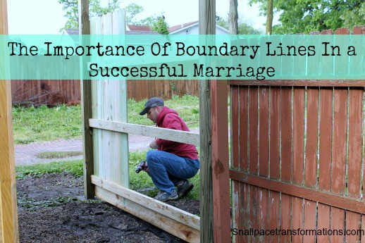 the importance of boundary lines in a successful marriage