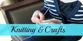 knitting and crafts button
