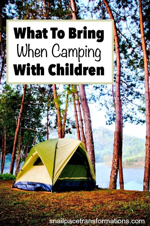 what to bring when camping with children