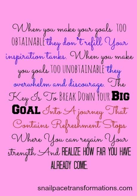 how to break down a goal