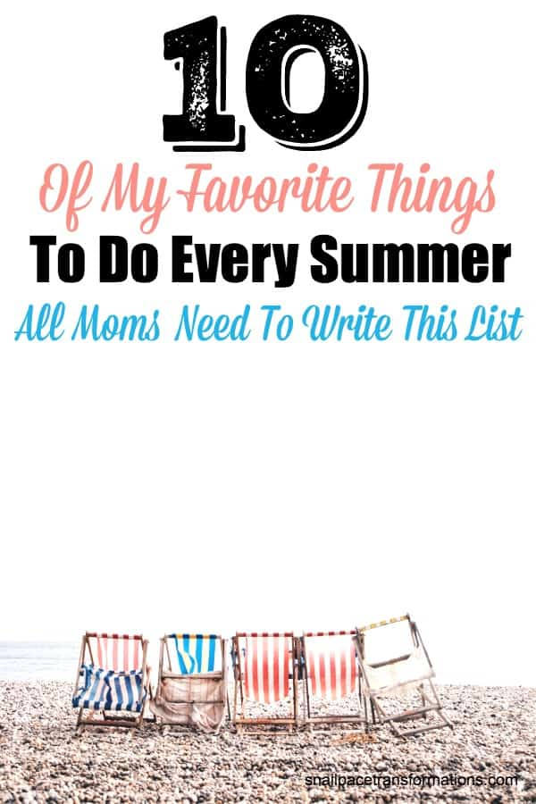 All moms need to write a list like this every summer--just for them. #summer #summerbucketlist