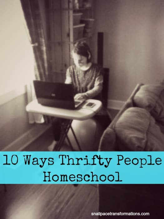 10 ways thrifty people homeschool