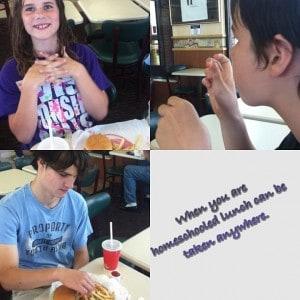 homeschooled lunch