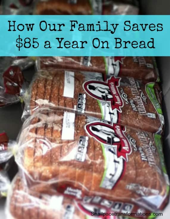 how our family saves $85 a year on bread