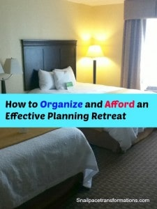 how to organize and afford and effective planning retreat