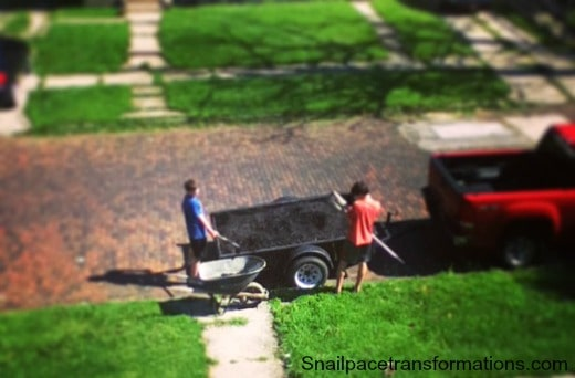 load of discounted mulch