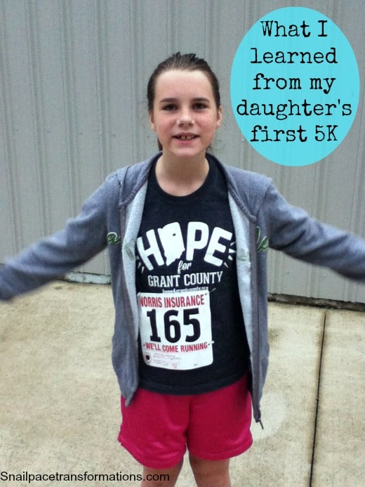 what I learned from my daughter's first 5k