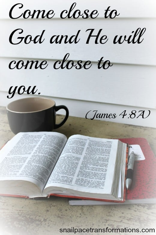 come close to God and He will come close to you