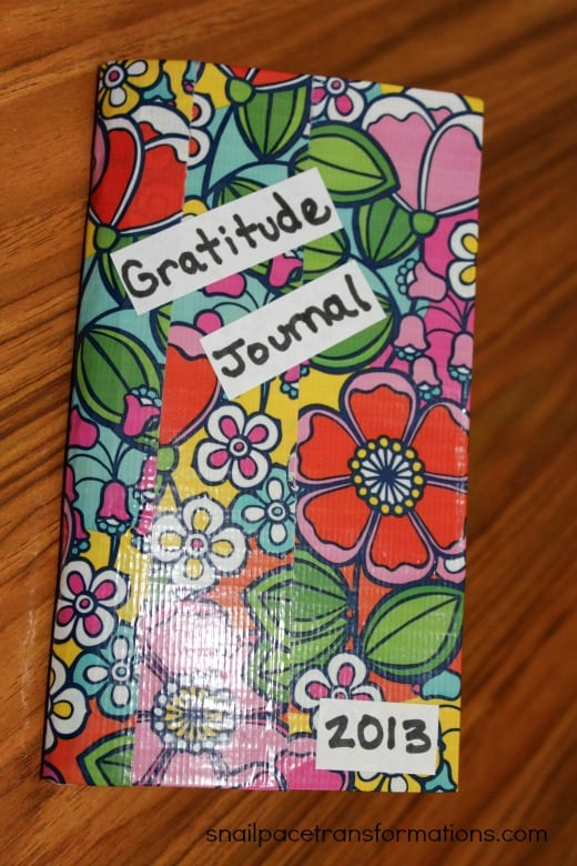 DIY $1 Gratitude journal (snailpacetransformations.com