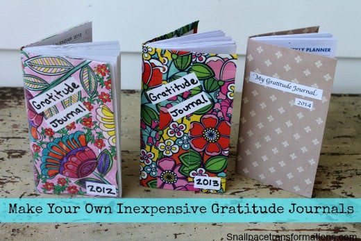 make your own inexpensive gratitude journals