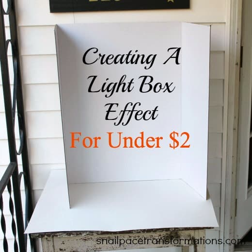 creating a light box effect for under $2