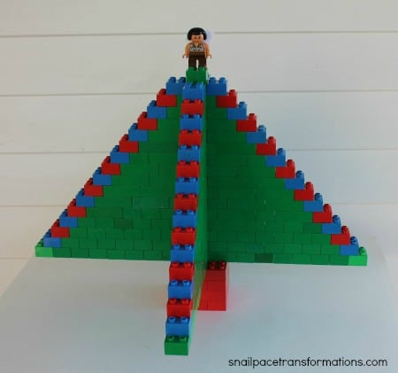 Christmas Duplo Tree with angel