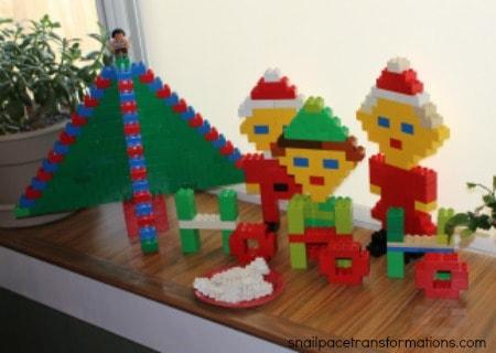 Christmas Duplo display