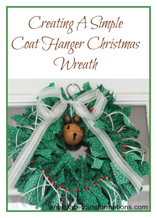 Creating A Simple Coat Hanger Christmas Wreath