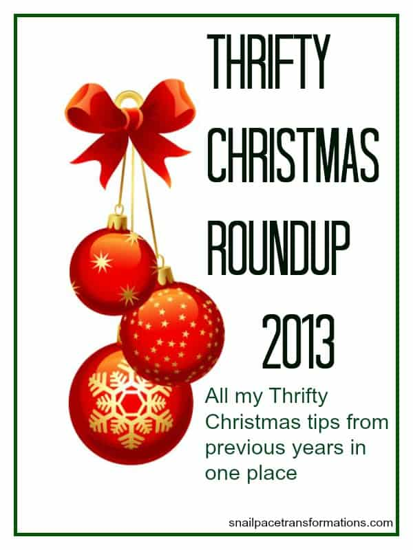 Thrifty Christmas Roundup 2013