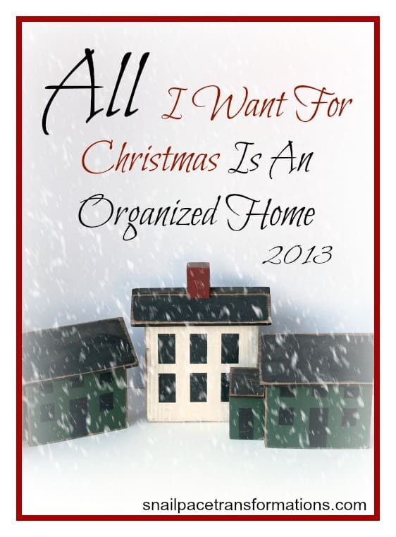 all I want for christmas is an organized home