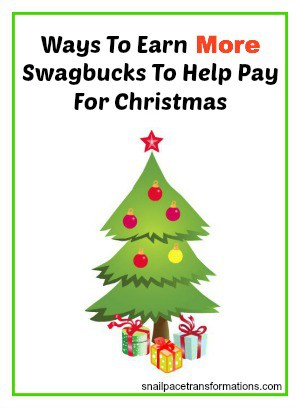 ways to earn more swagbucks to help pay for Christmas