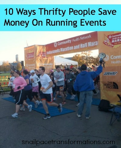 thrifty running event tips