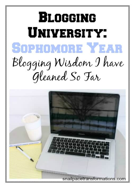 Blogging University Sophomore year