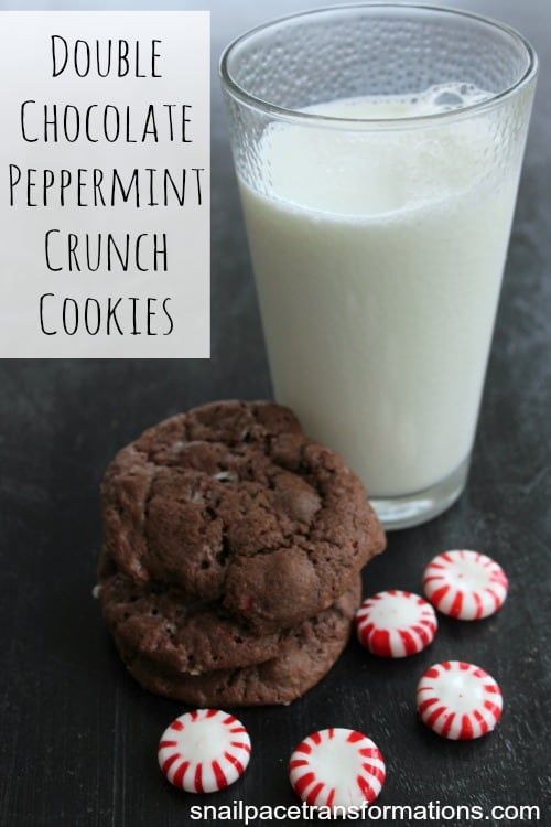 Double Chocolate Peppermint Crunch Cookies Oh so good!
