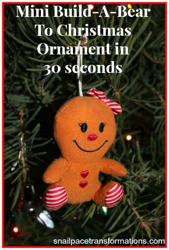build-a-bear to Christmas ornament in 30 seconds (small)