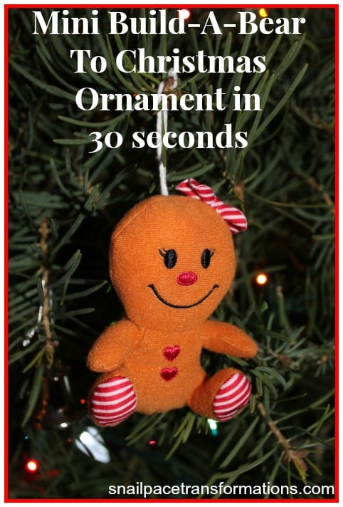 build-a-bear to Christmas ornament in 30 seconds