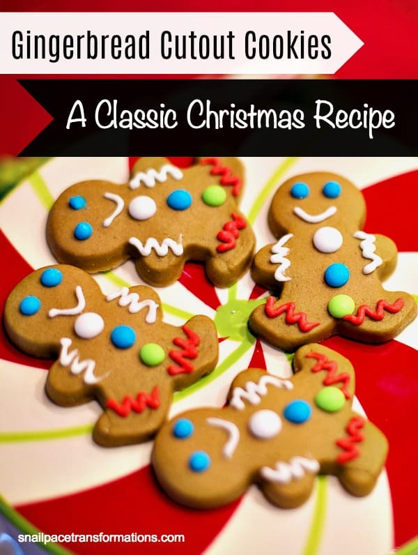 Gingerbread cutout cookies: a classic Christmas cookie recipe. #christmas #holiday
