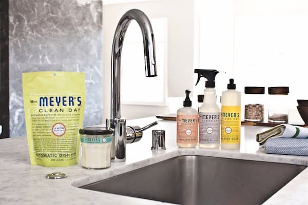 meyer's soap at sink