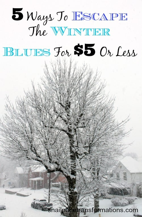 5 ways to escape the winter blues for five dollars or less