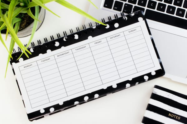 Go from Overwhelmed To Inner Calm With This Planner System: Step Five: Print Out A Free Week At A Glance Sheet