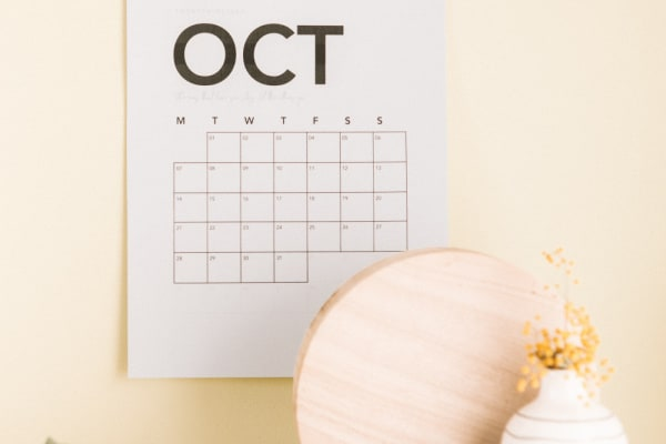No-Brainer Planning System For Taming Overwhelm: Step Four: Print Out A Free Monthly Calendar Page