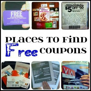 places to find free coupons