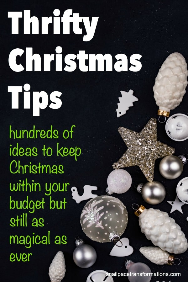 hundreds of tips on how to save money on Christmas but yet still keep the magic of the holiday season.