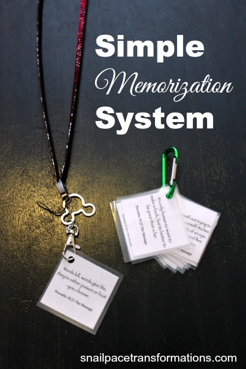 simple memorization system