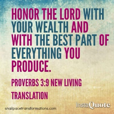 tithing Proverbs 39