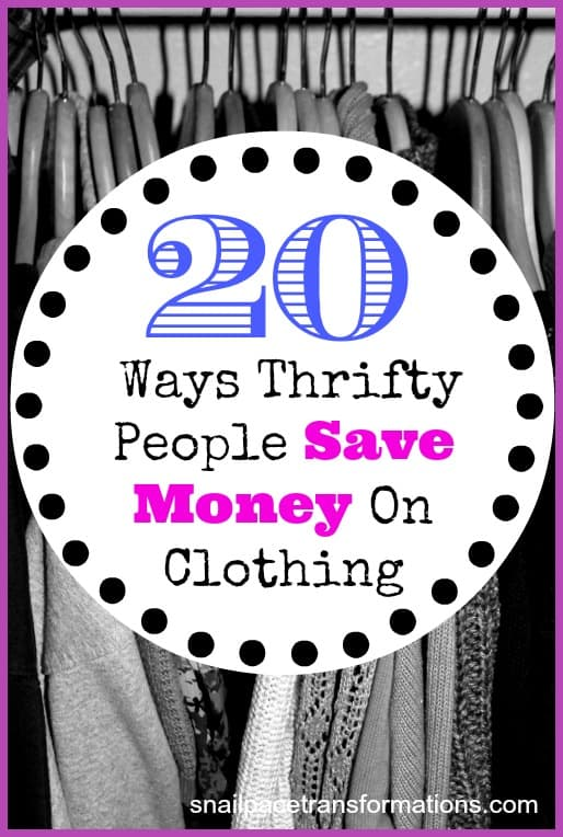 20 ways thrifty people save money on clothing
