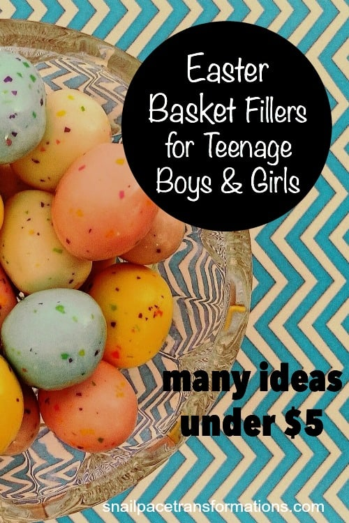 Easter basket fillers for teenage boys and girls. Many ideas under 5 dollars