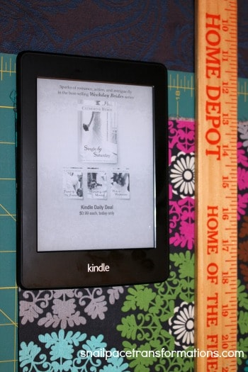 deciding how to cut the width of the kindle paperwhite case