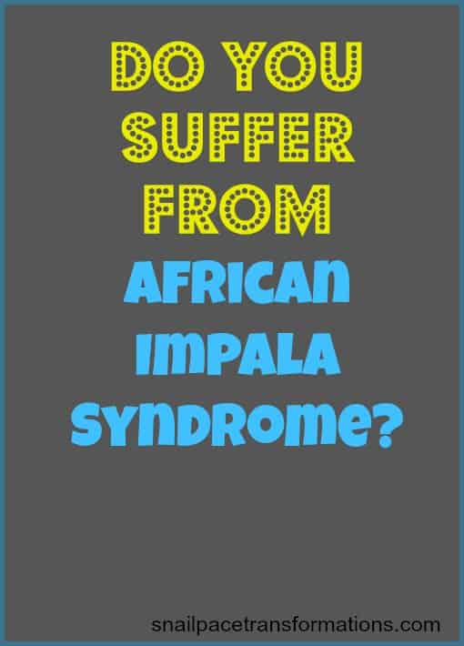 Do You Suffer From African Impala Syndrome? Trade Fear For Faith